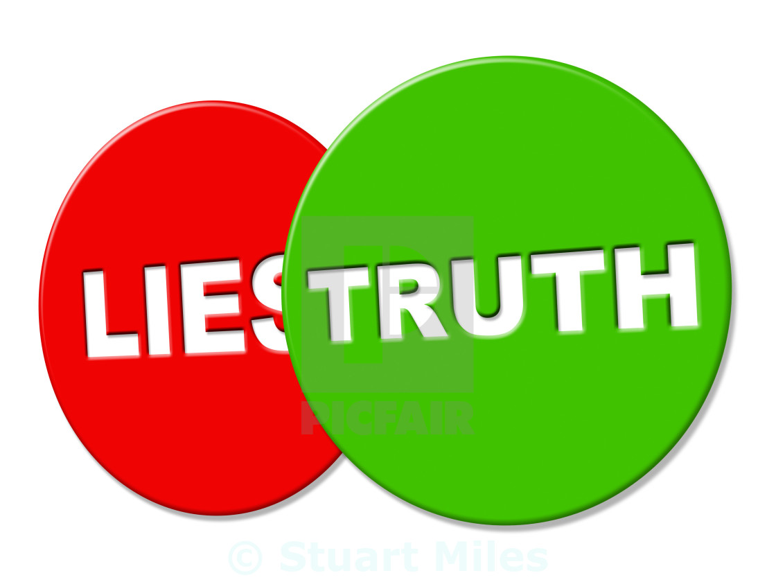 """Truth Sign Shows No Lie And Accuracy"" stock image"