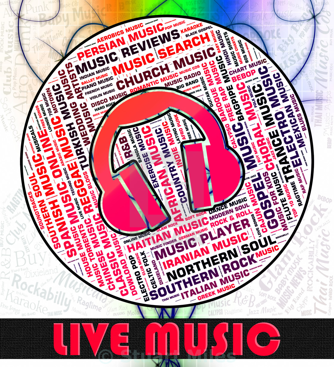 Live Music Indicates Sound Tracks And Audio - License