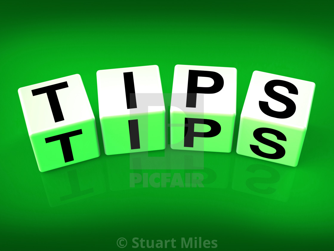 Tips Blocks Mean Hints Suggestions and Advice - License, download or