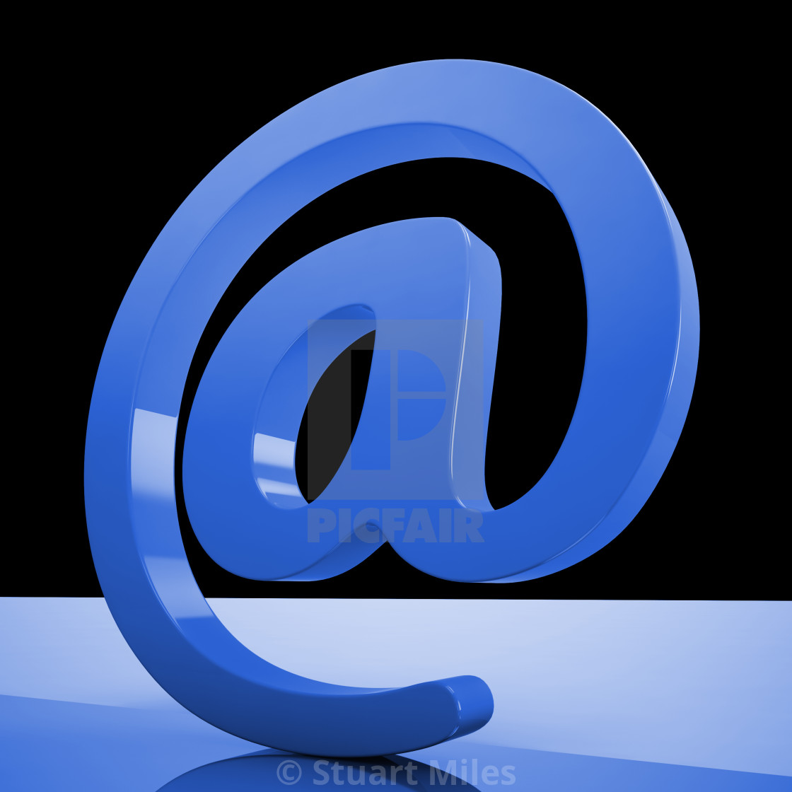 """At Sign Mean Email Correspondence on Web"" stock image"