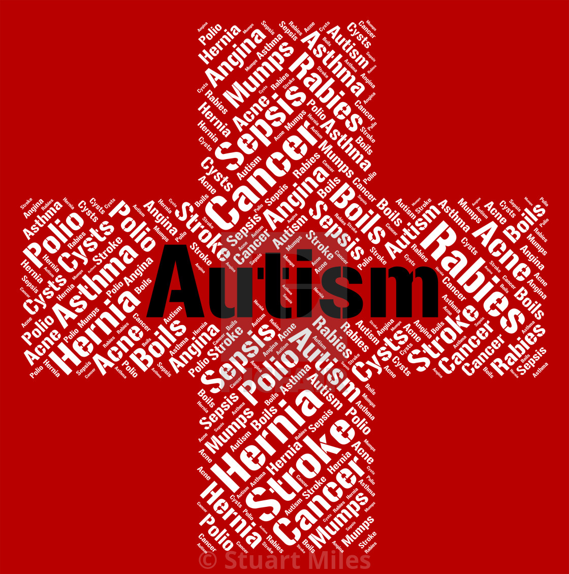 Autism And Ill Health How To Spot >> Autism Word Represents Ill Health And Ailment License Download Or