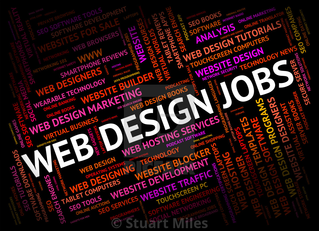 Web Design Jobs Shows Designers Designed And Word License