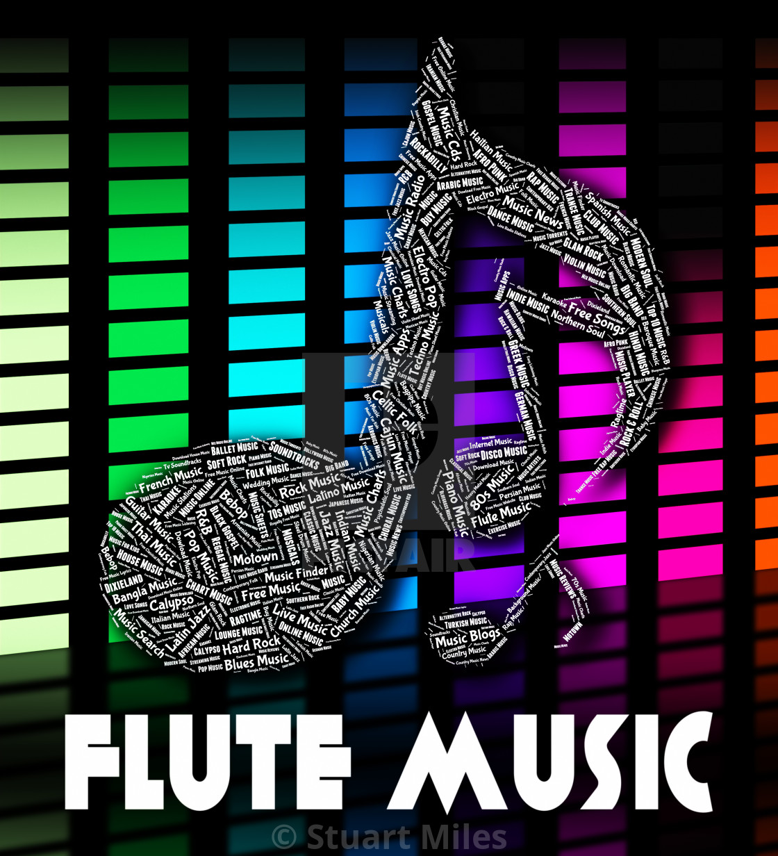 Flute Music Means Sound Track And Audio - License, download or print