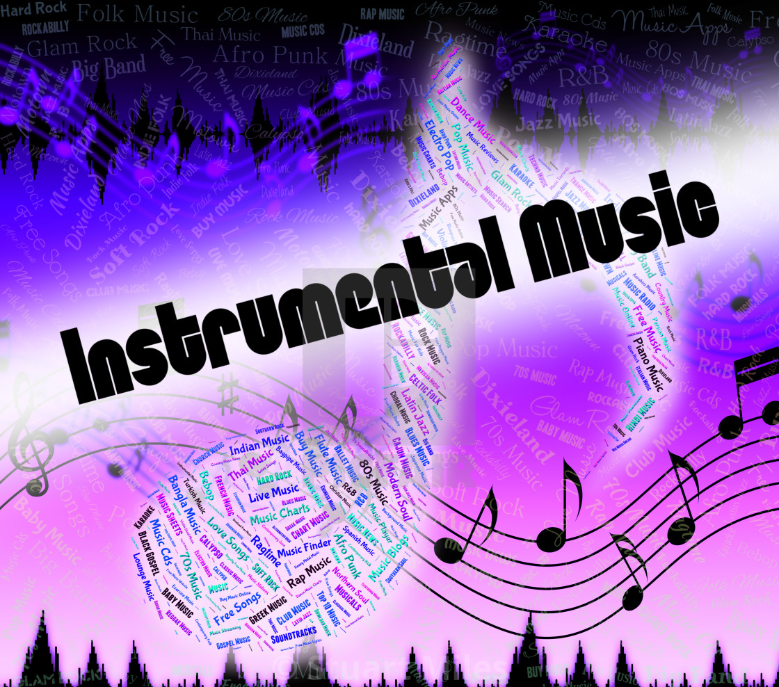 Instrumental Music Indicates Musical Composition And Harmony