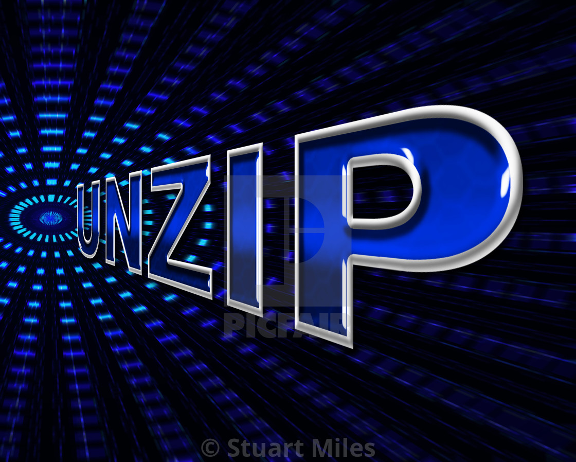 File Unzip Represents Files Business And Document - License