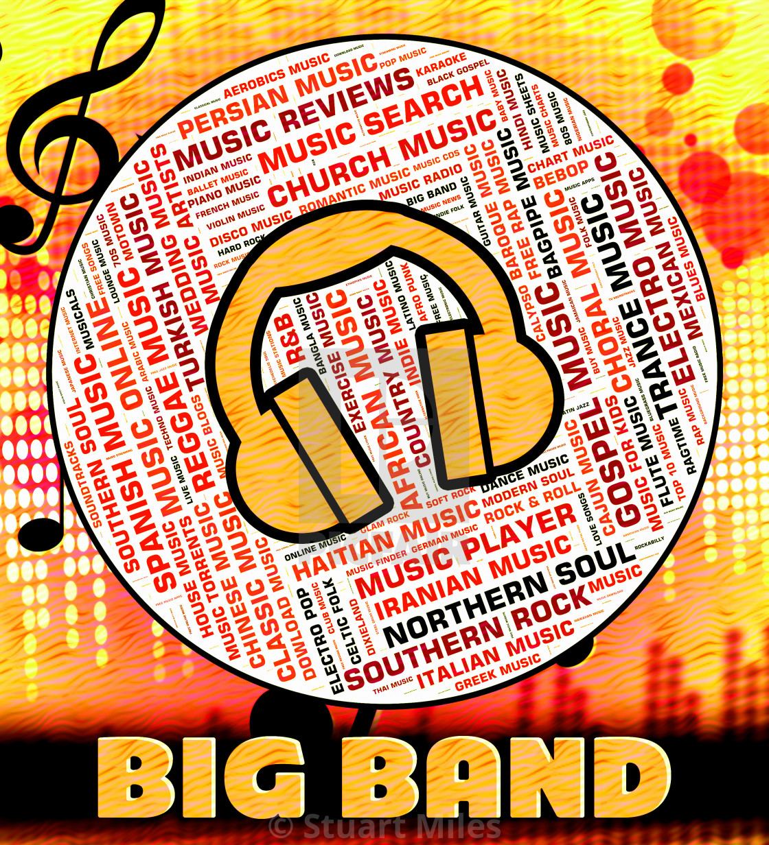 Big Band Music Represents Sound Tracks And Audio - License