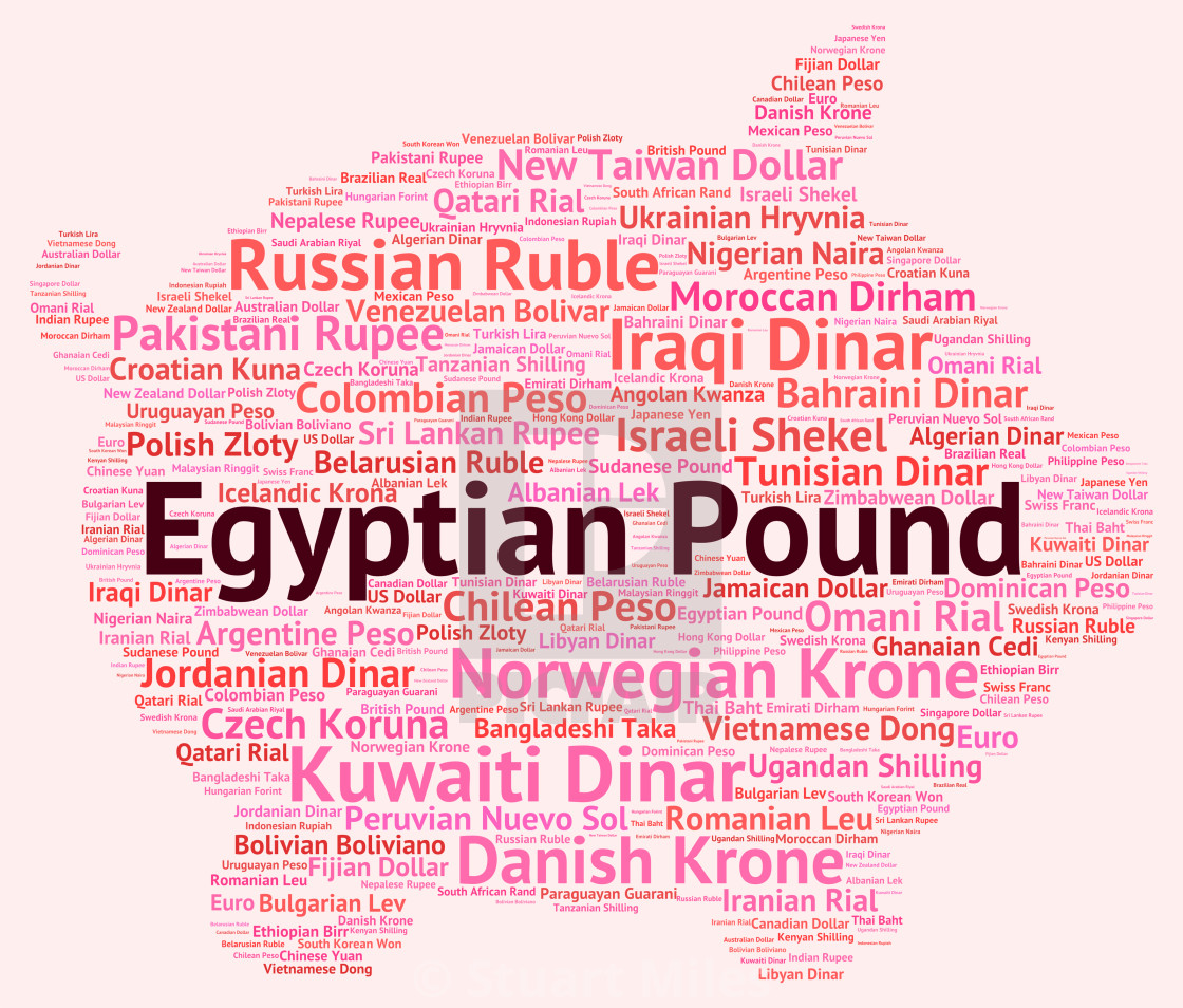 """Egyptian Pound Represents Worldwide Trading And Banknotes"" stock image"