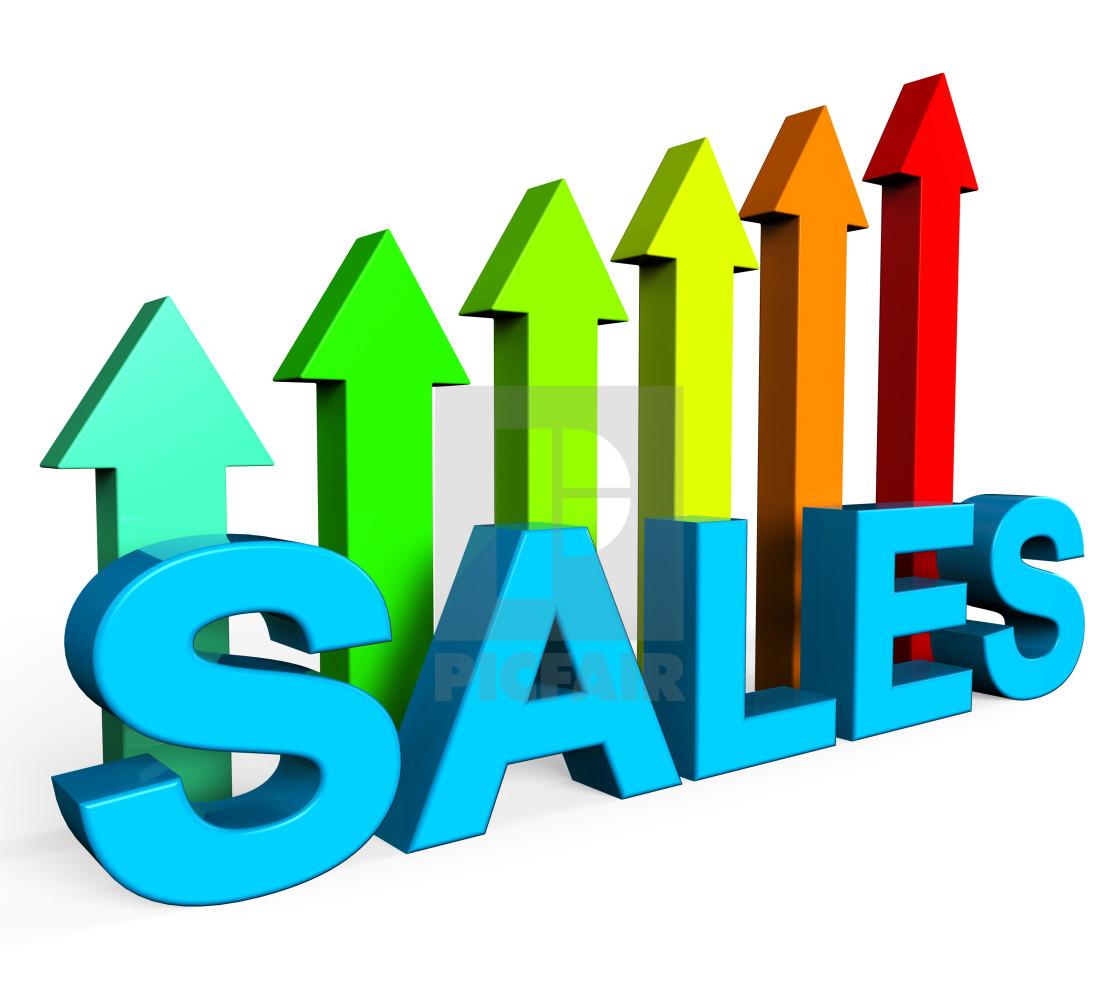 Sales Increasing Indicates Progress Report And Data - License ...