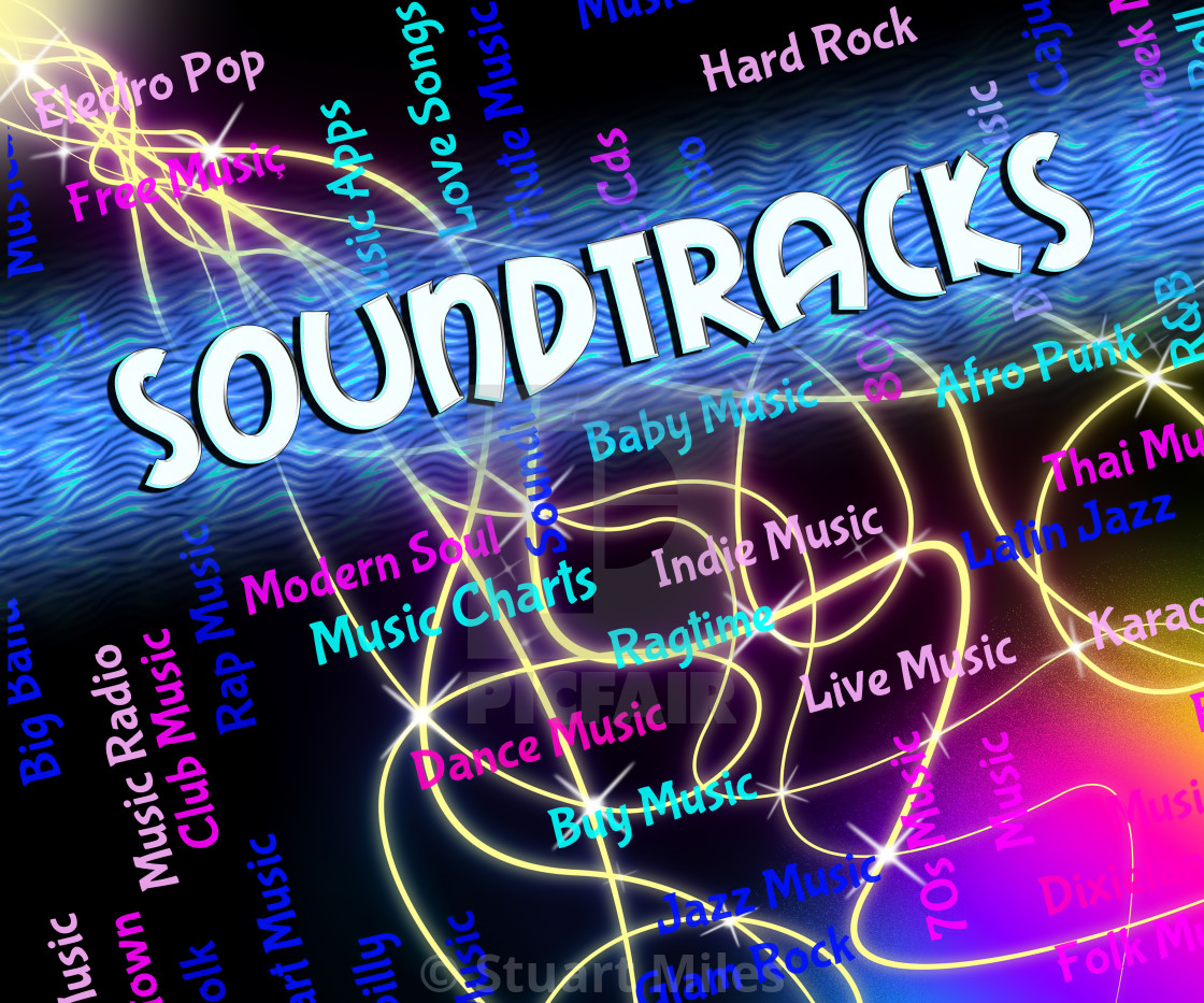 """Soundtracks Music Shows Video Game And Melodies"" stock image"
