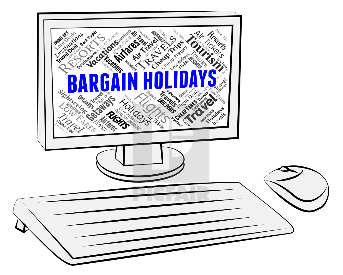 """Bargain Holidays Shows Pc Discounts And Computer"" stock image"