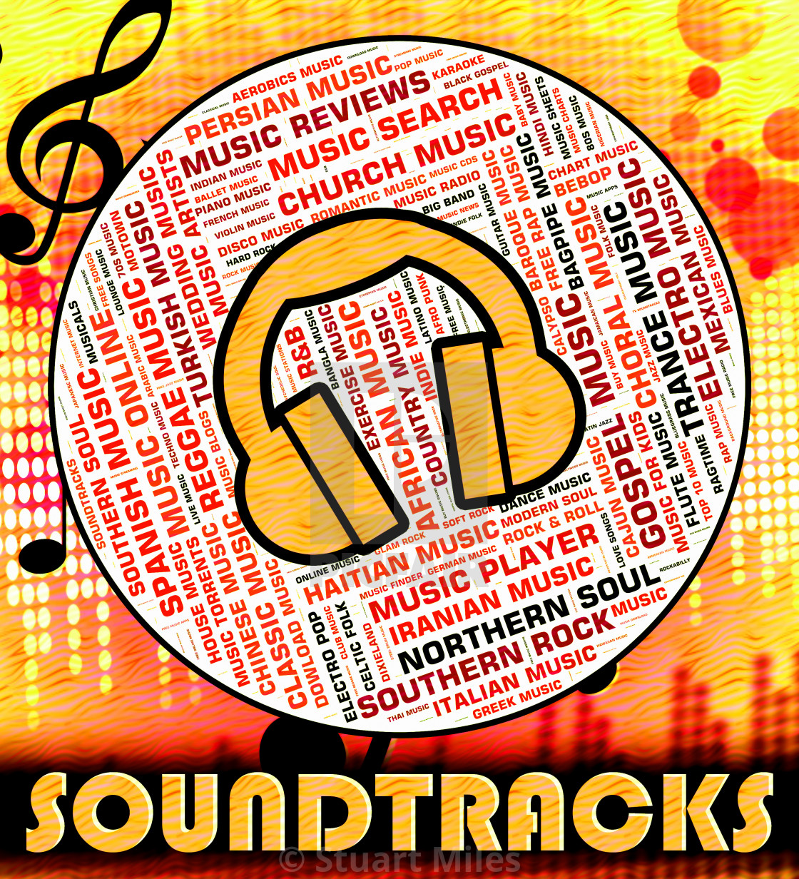"""Soundtracks Music Means Motion Picture And Book"" stock image"