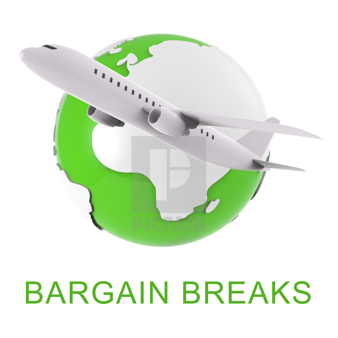 """Bargain Breaks Shows Short Holiday 3d Rendering"" stock image"