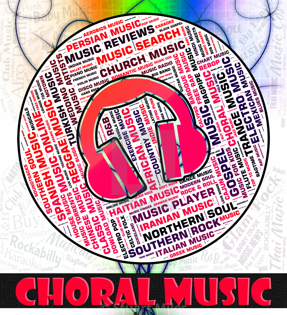 Choral Music Indicates Sound Track And Acoustic - License, download