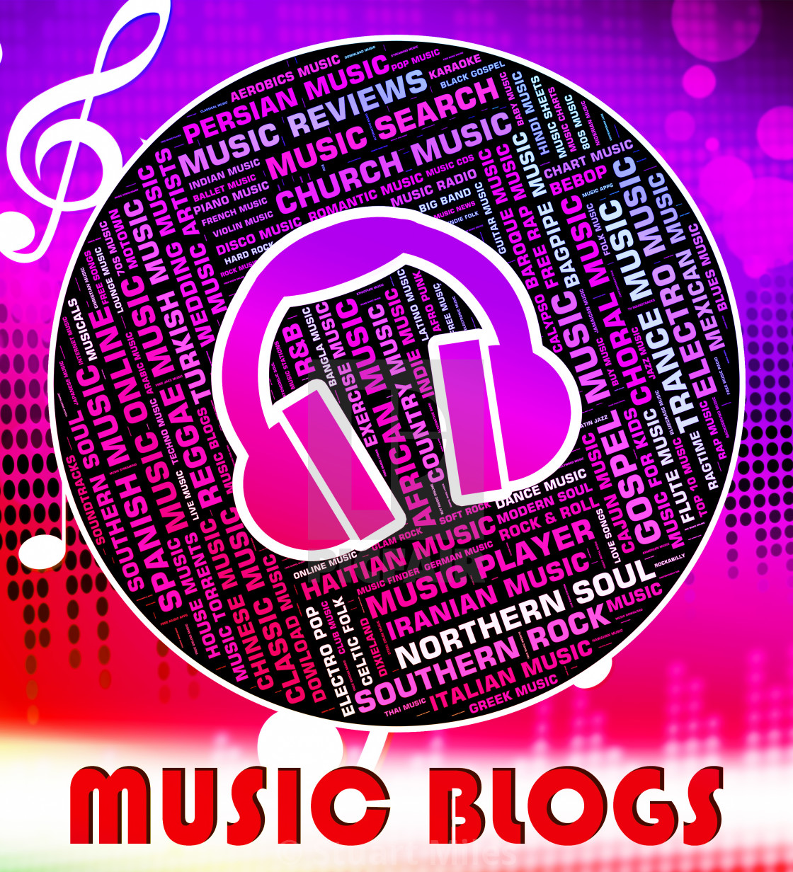 Music Blogs Shows Sound Track And Acoustic - License