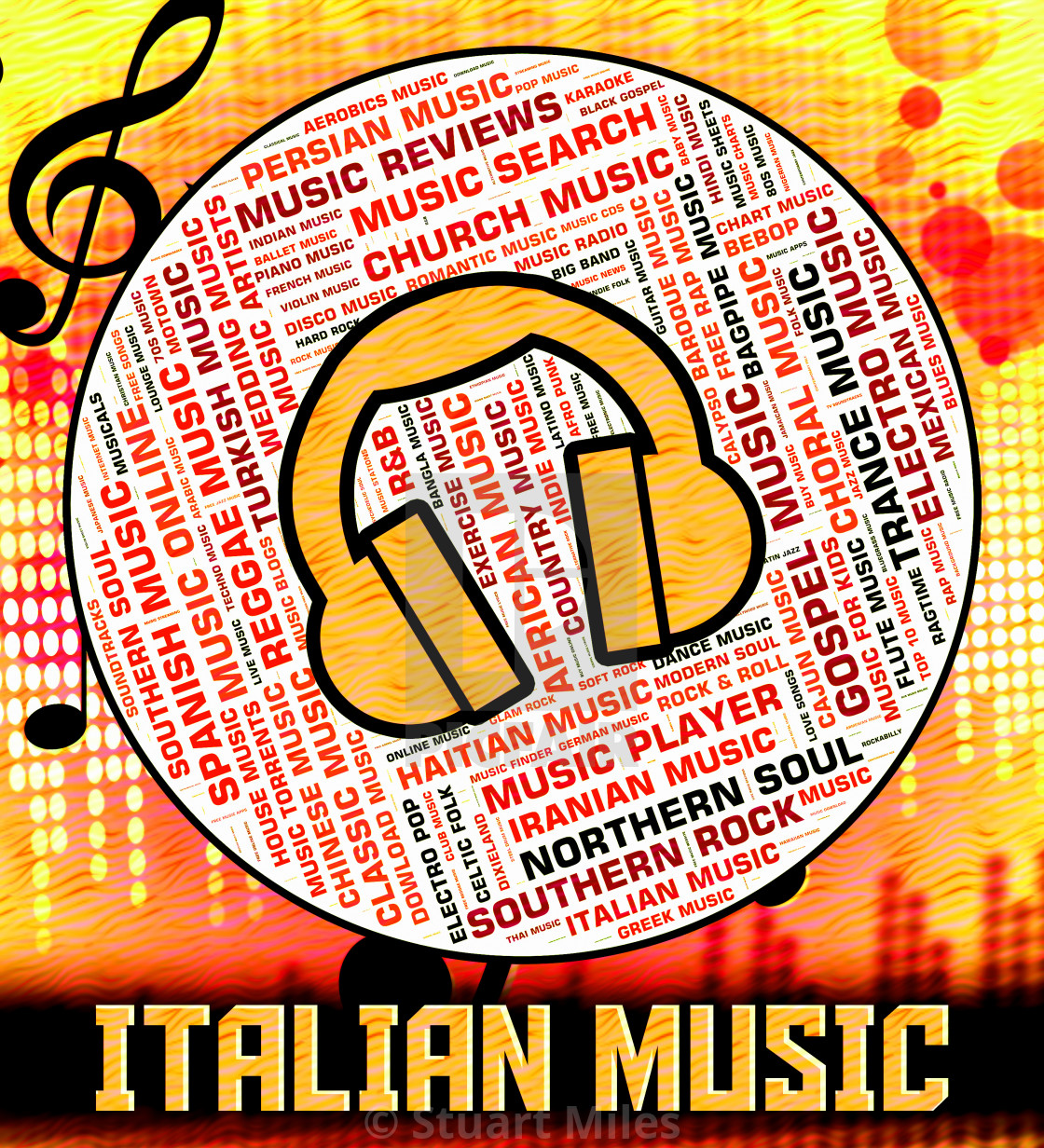 Italian Music Indicates Sound Tracks And Audio - License