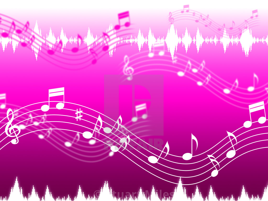 Pink Music Background Shows Rap Rock Or RandB  - License, download
