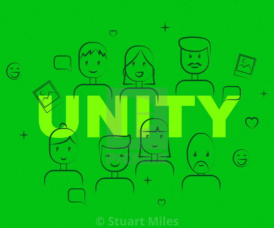 Unity People Represents Team Work And Cooperation - License
