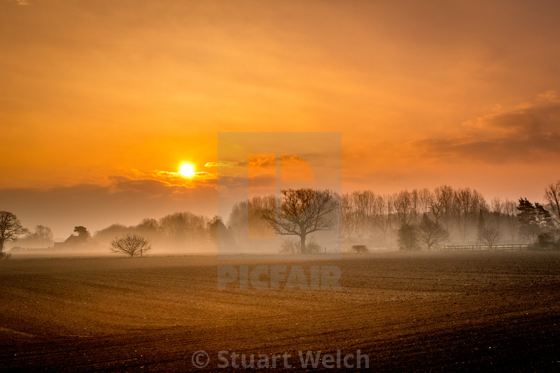 """Sunrise in Surrey"" stock image"