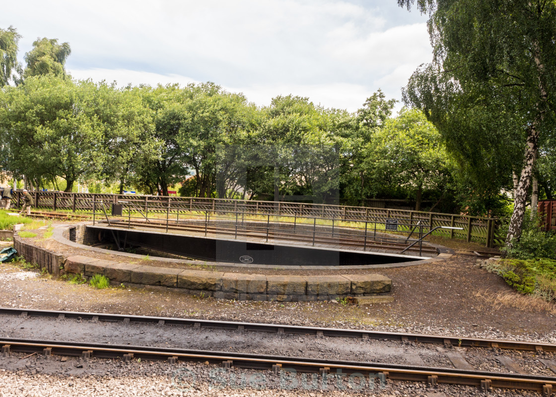 Railway turntable at Keighley railway station, Keighley