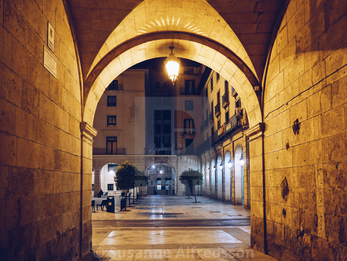 """Alicante Ajuntamiento area"" stock image"