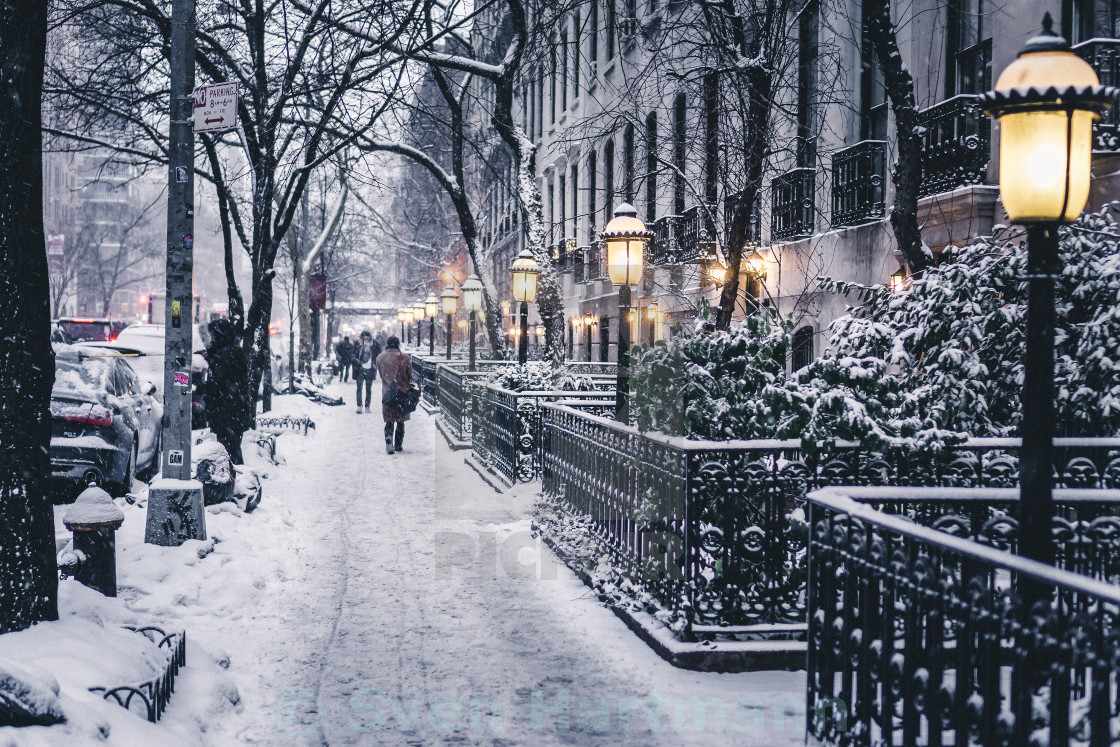 """NYC winter"" stock image"