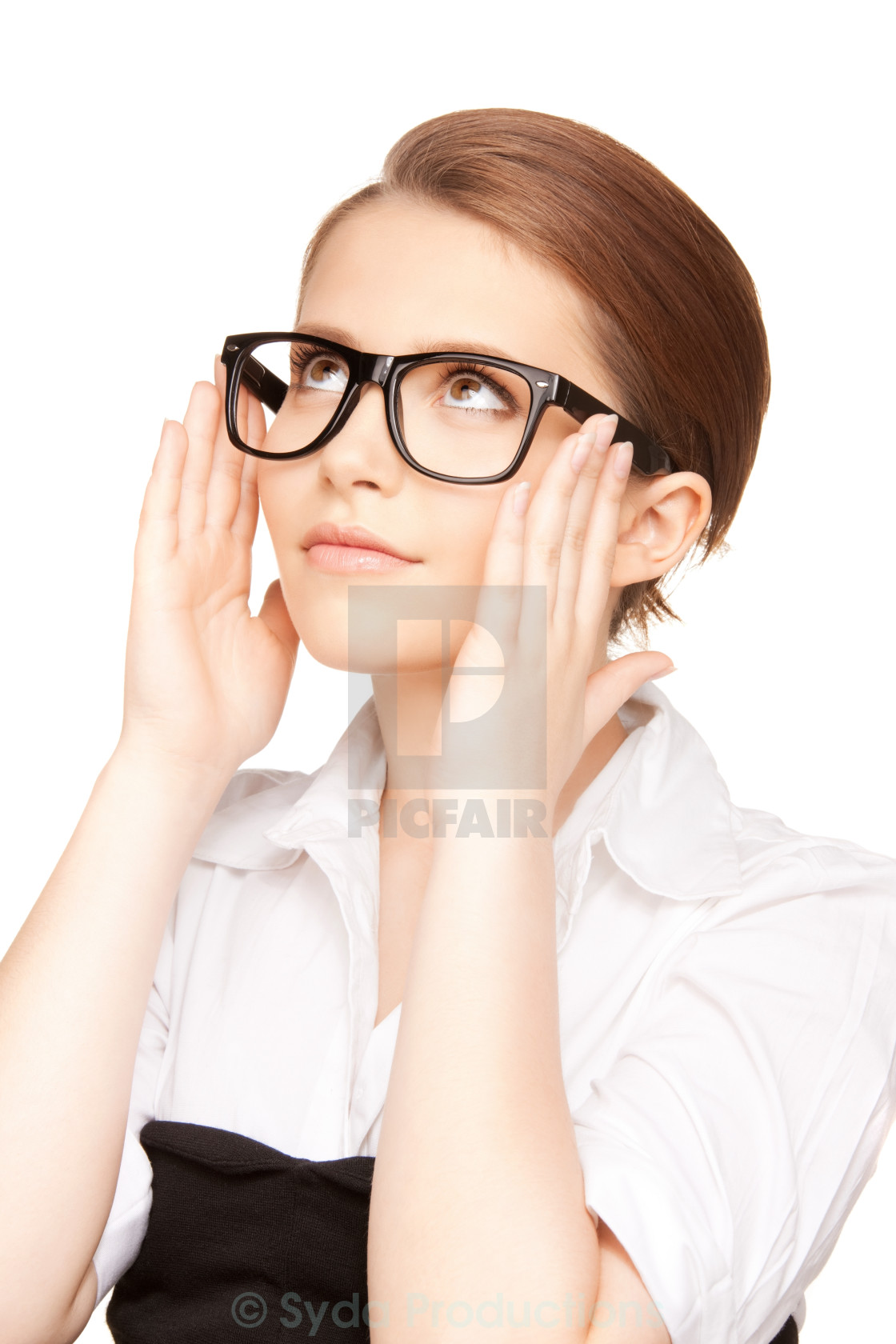 """lovely woman in spectacles"" stock image"