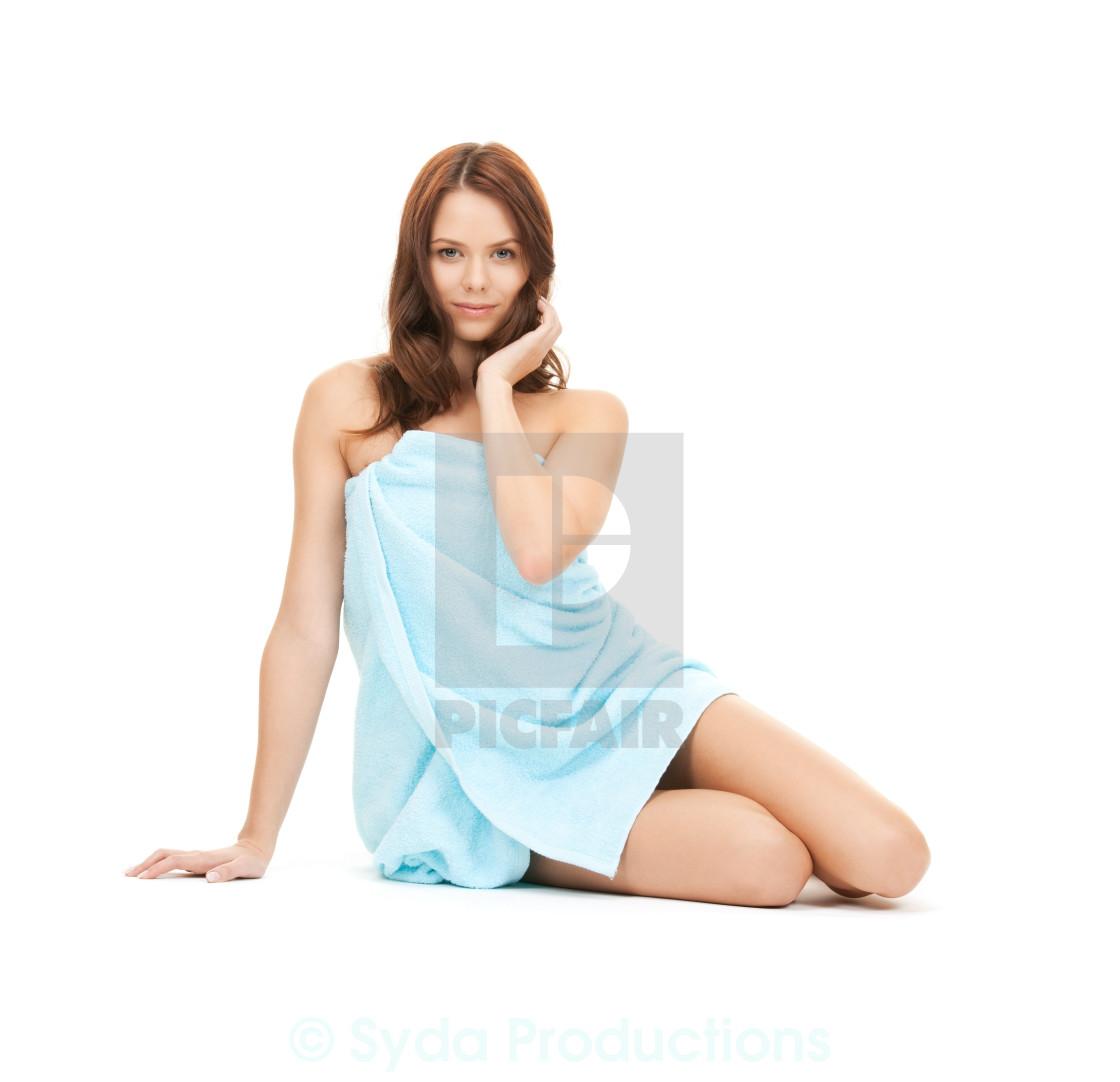 """beautiful woman in towel"" stock image"