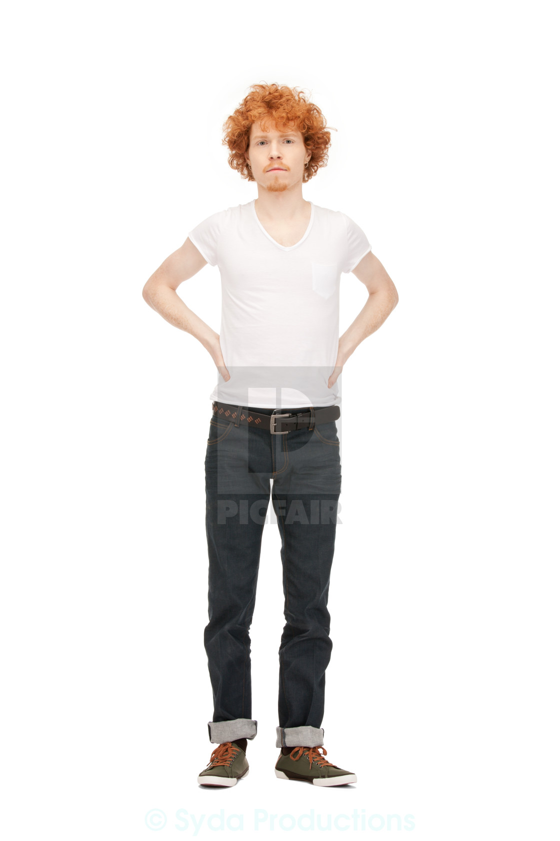 """""""handsome man in white shirt"""" stock image"""