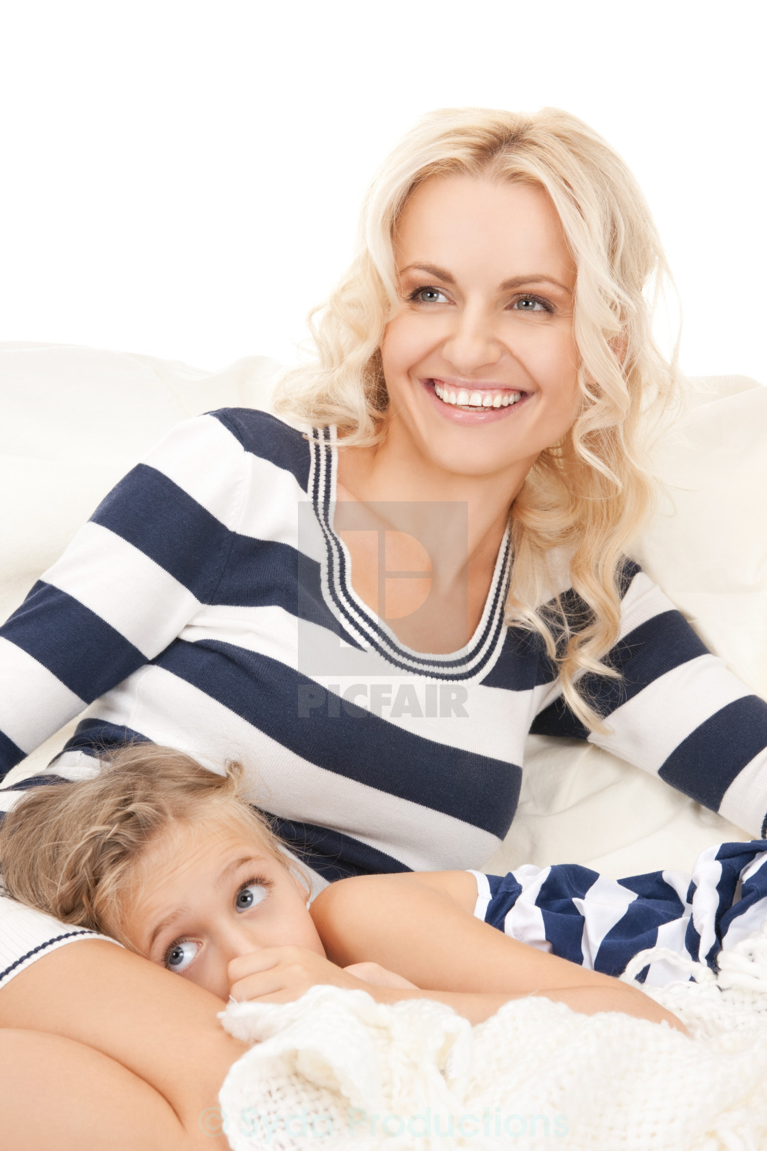 """""""happy mother and little girl"""" stock image"""