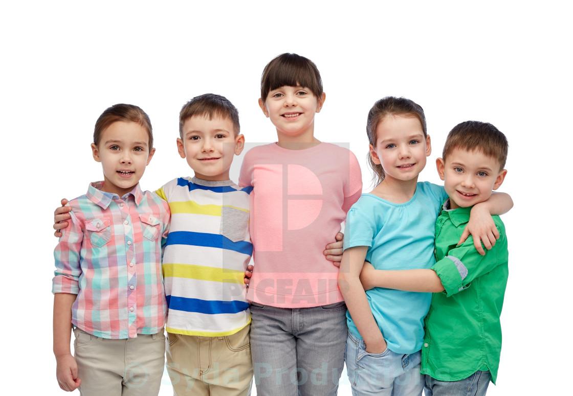 """happy smiling little children hugging"" stock image"