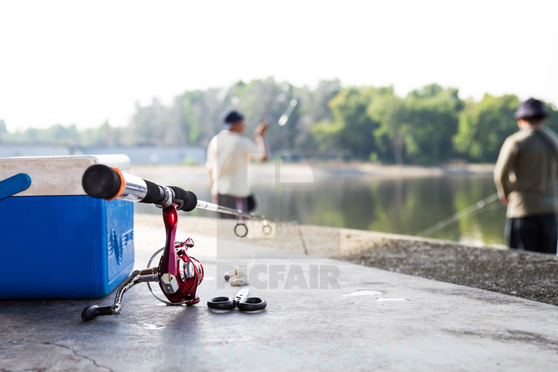 """Fishing gears"" stock image"