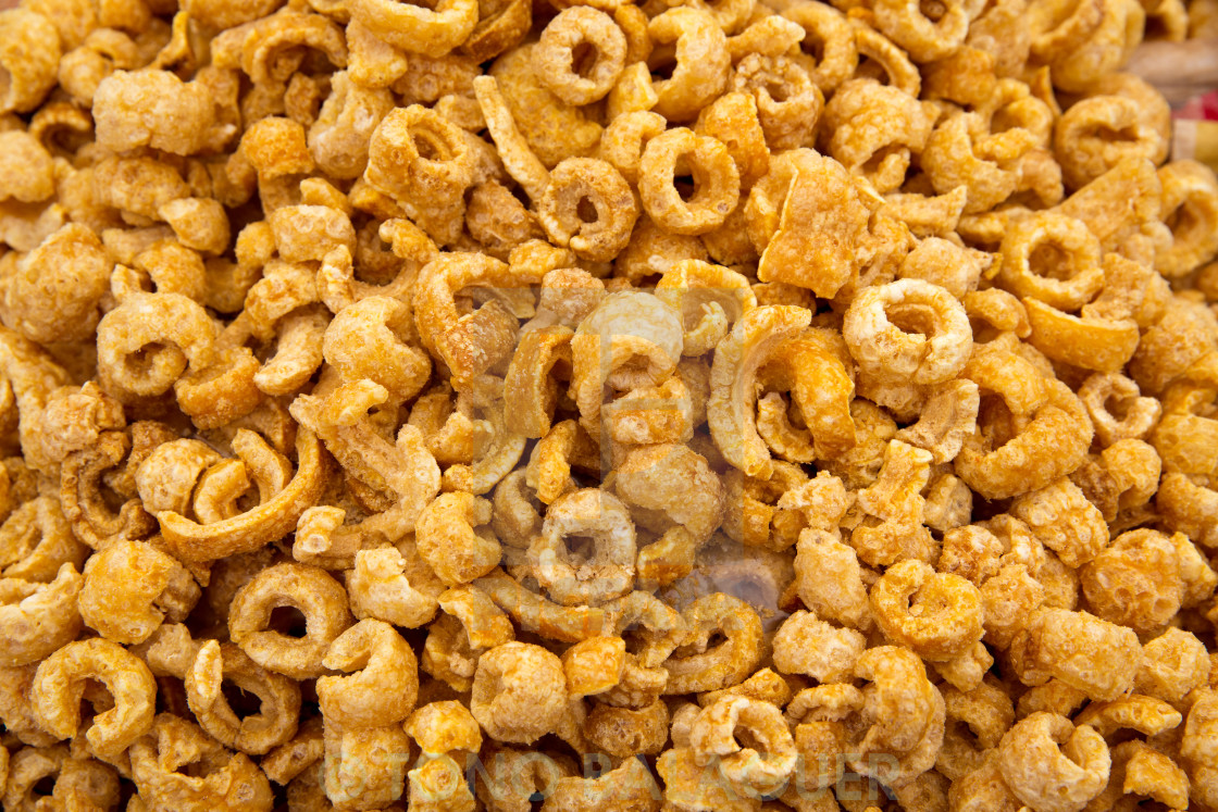 """pork rinds texture pattern snack"" stock image"
