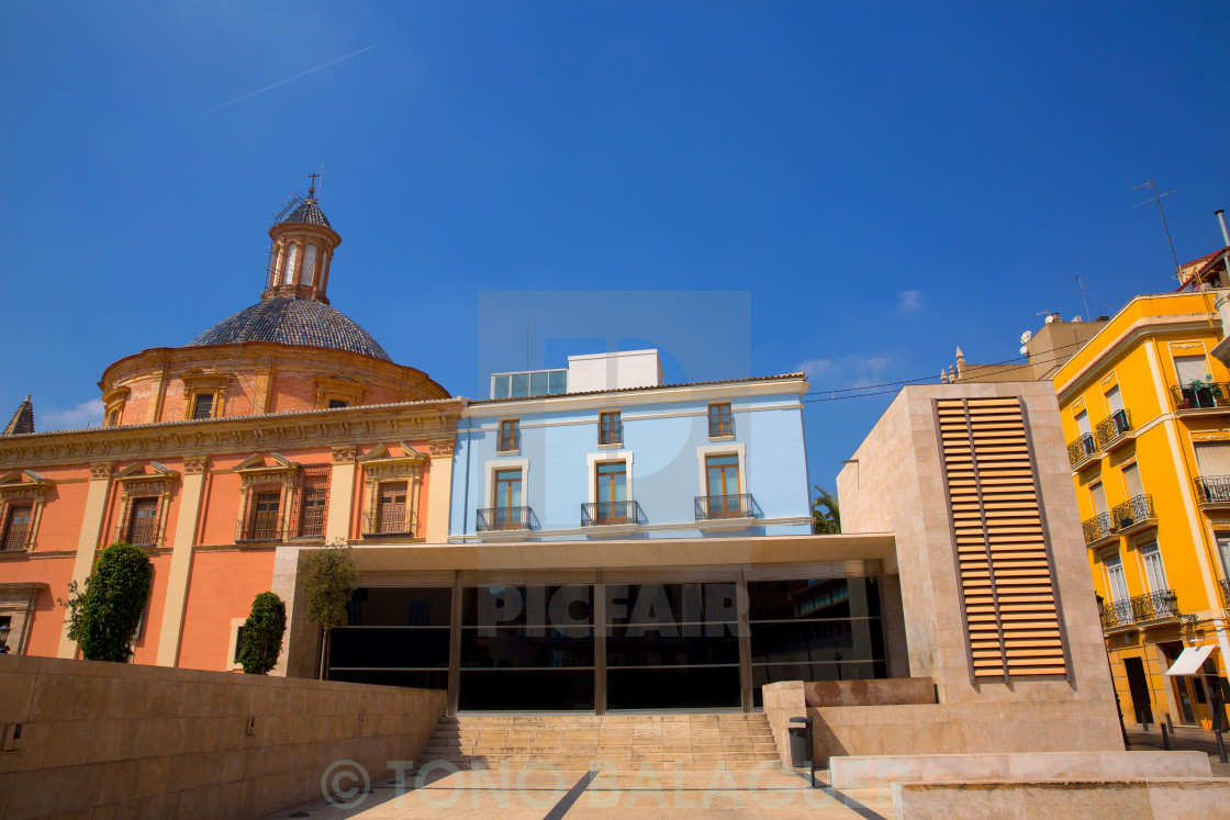 """""""Valencia downtown cathedral and basilica Spain"""" stock image"""