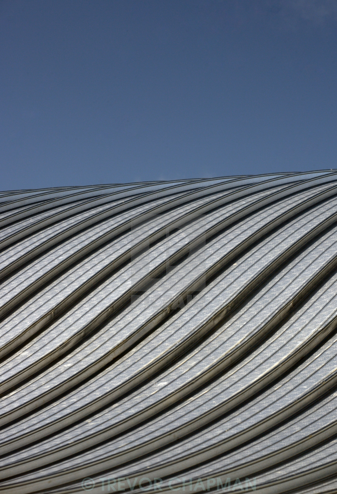 """METAL CURVED ROOF"" stock image"