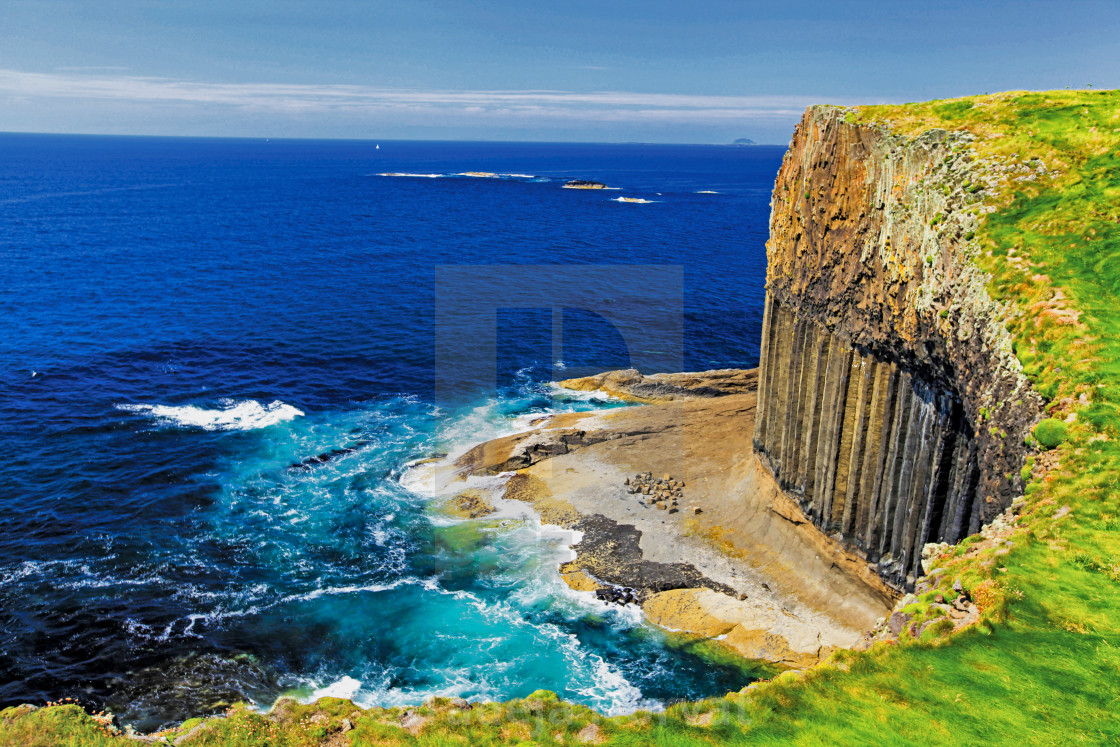 """Staffa Island"" stock image"