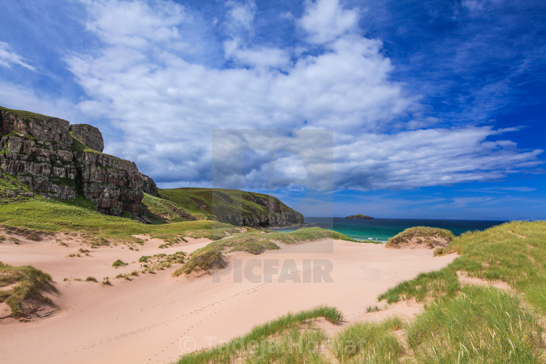 """Sandwood Bay"" stock image"