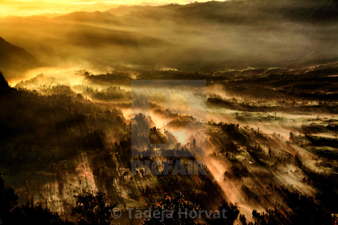 """Light at sunrise"" stock image"