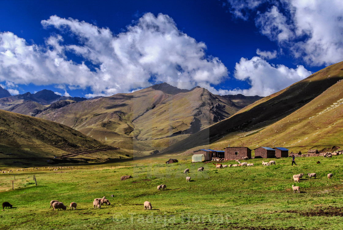 """Mountain range in the Andes of Peru"" stock image"
