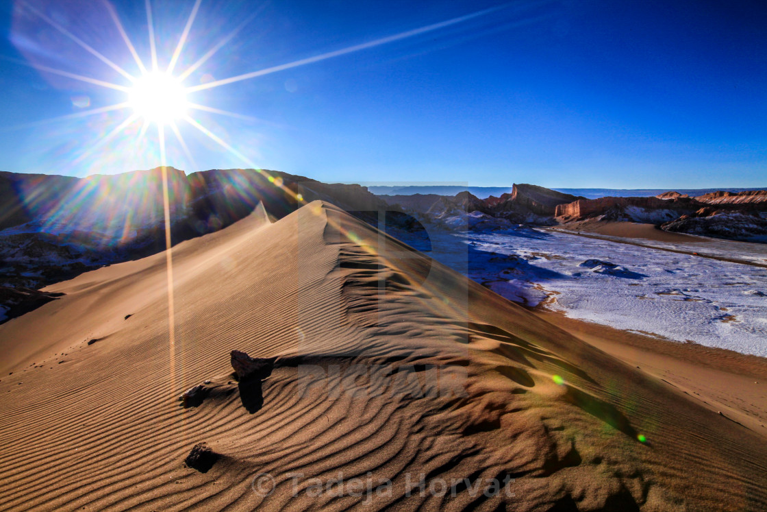 """Valle de la Luna, big Dune"" stock image"