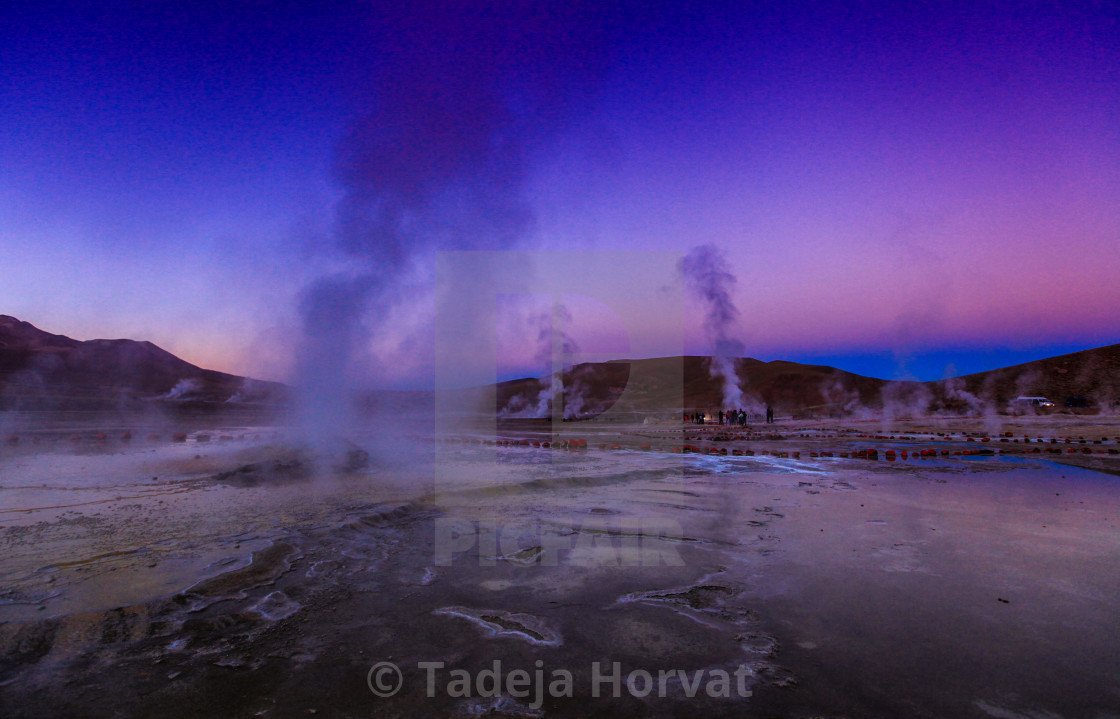 """El Tatio geyser field"" stock image"