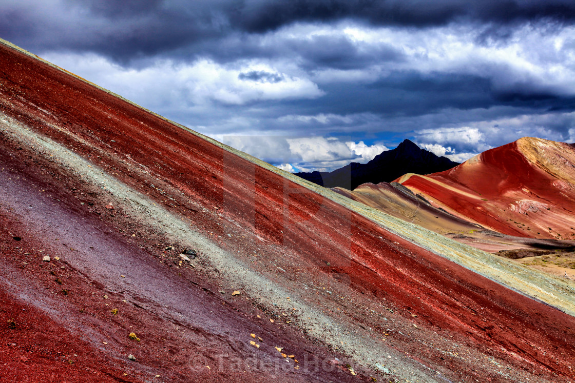 """Rainbow Mountain"" stock image"