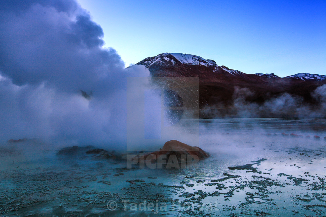 """The 'Great Geyser'"" stock image"