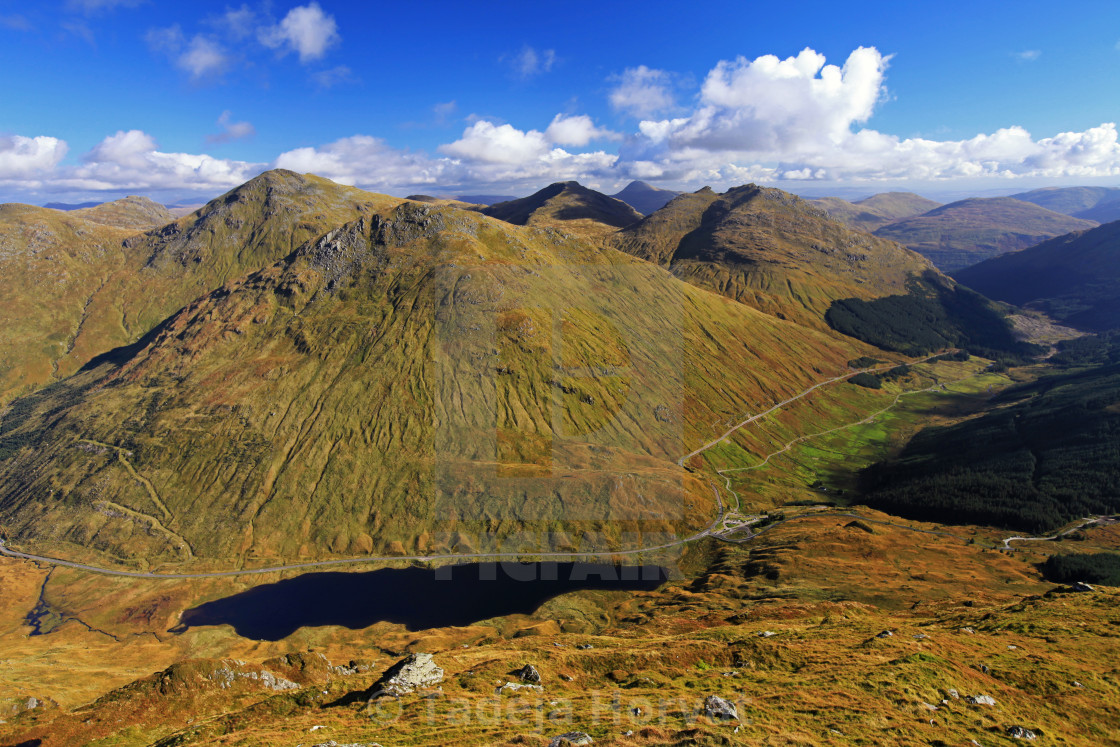 """View over Arrochar Alps, Rest and Be Thankful, Scotland"" stock image"