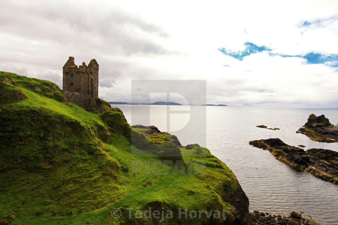 """Gylen Castle, Isle of Kerrera"" stock image"
