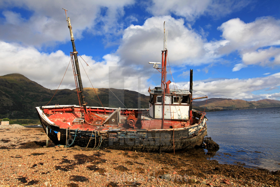 """Old Boat Wreck"" stock image"