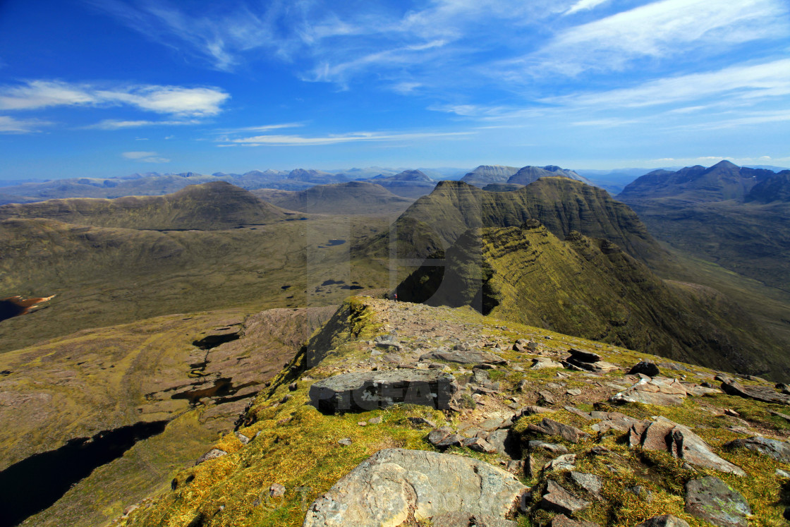 """The Torridon Hills"" stock image"