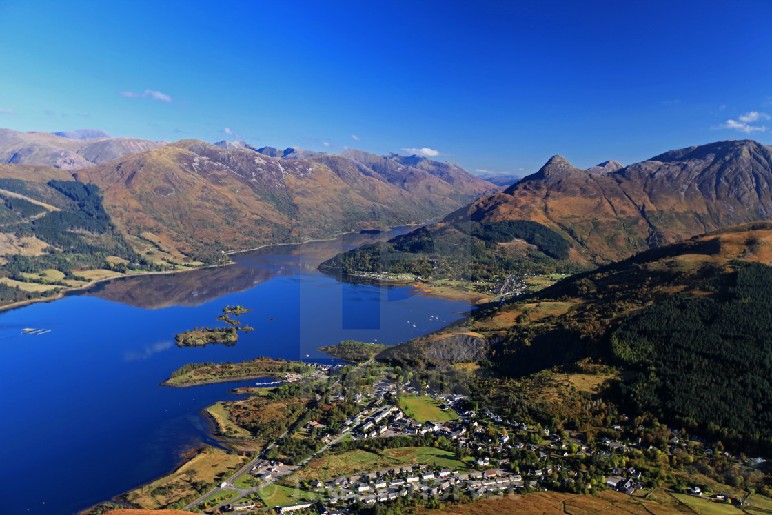 """View down to Ballachulish and Loch Leven"" stock image"