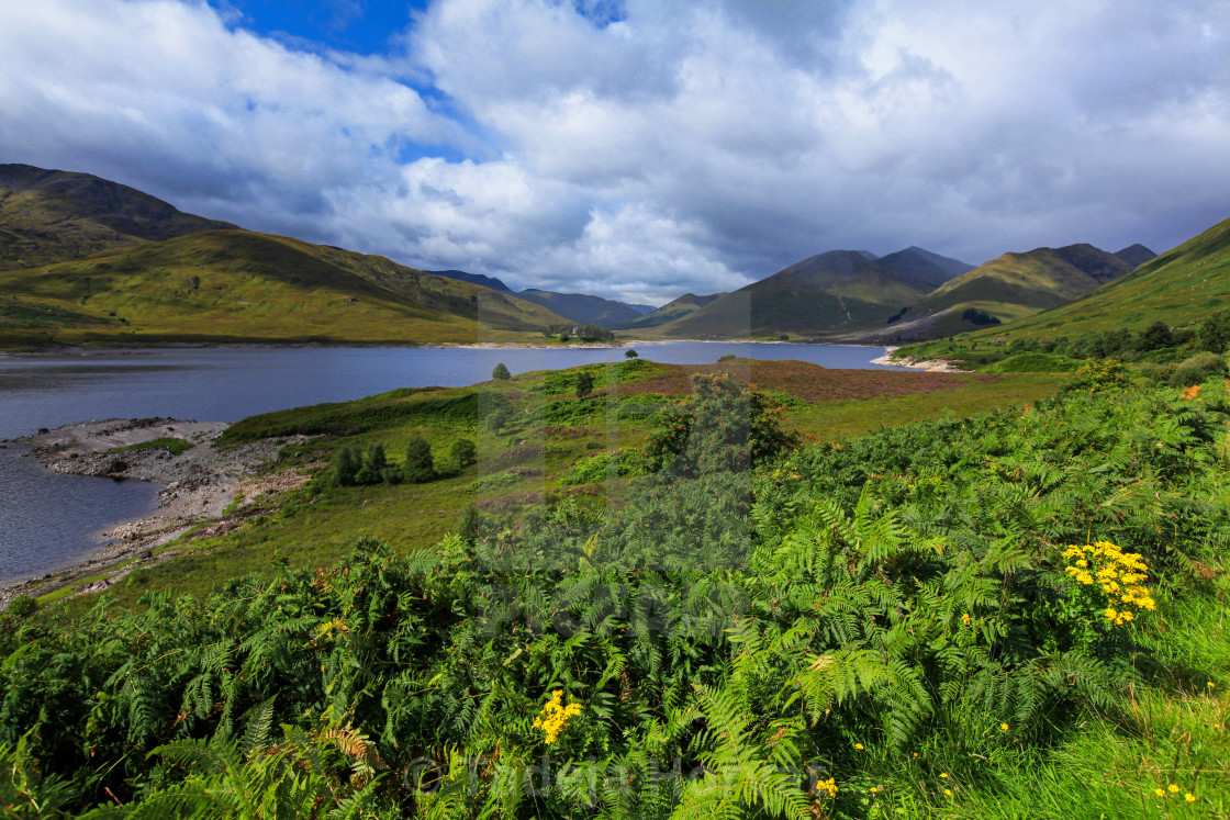 """Glen Shiel"" stock image"
