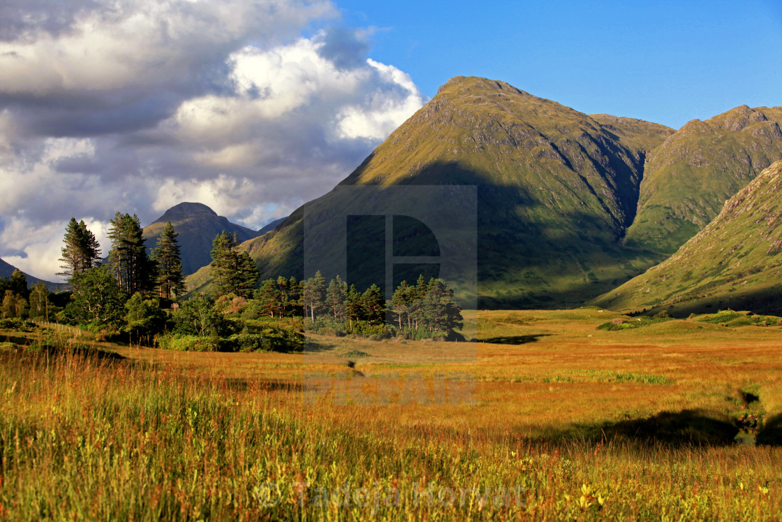 """Stob Dubh from Glen Etive"" stock image"