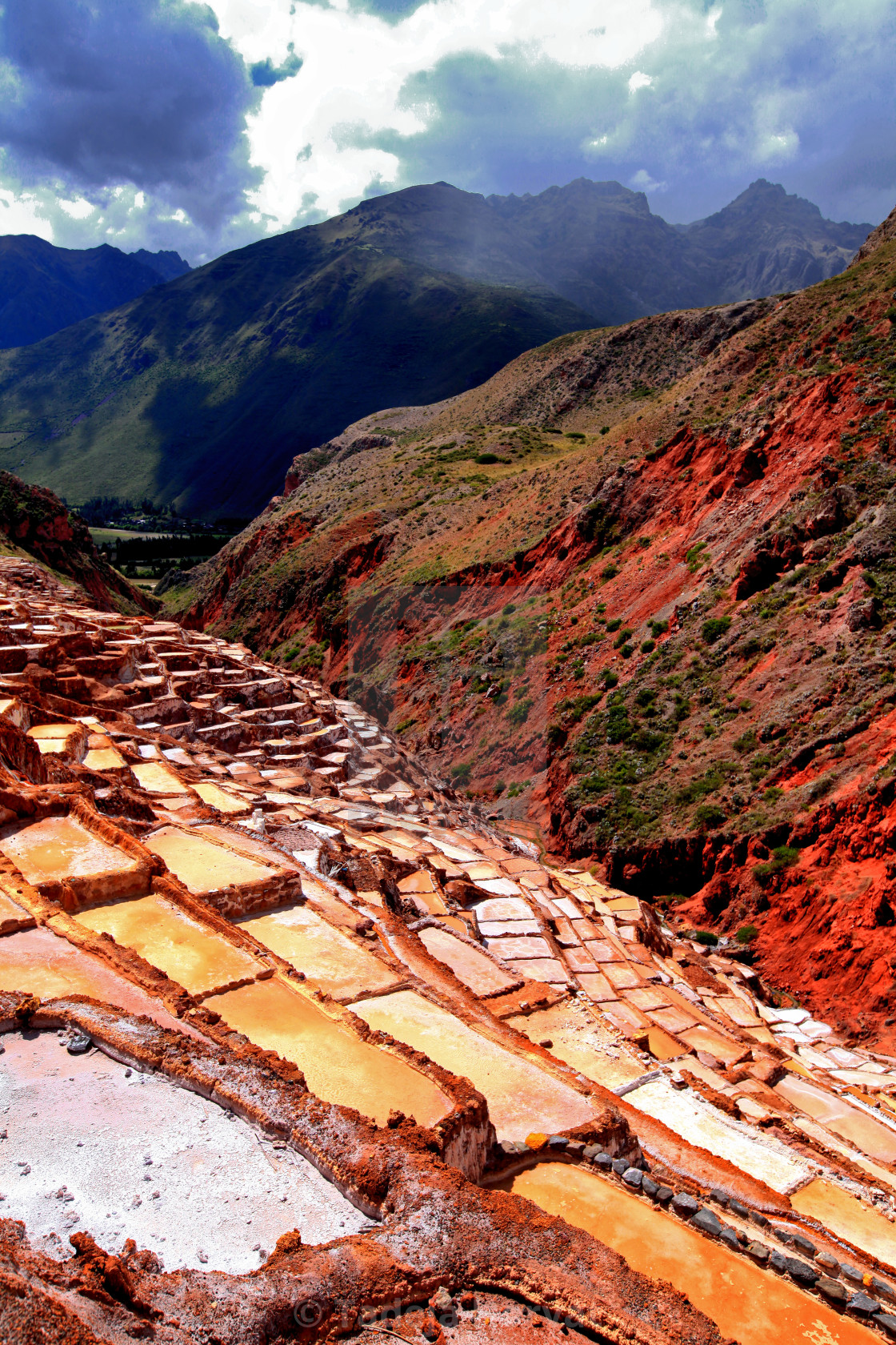 """Inca Salt pans at Maras"" stock image"
